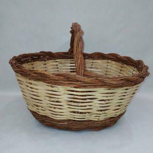 cesta mimbre bicolor