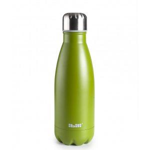 botella termo inox verde
