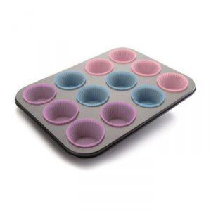 molde para 12 muffins silicona