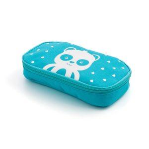 porta snack azul
