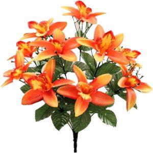 ramo orquídea naranja