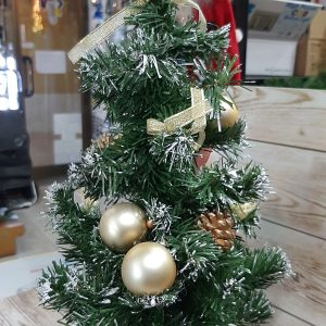 arbol oro navidad
