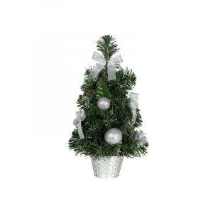 árbol navidad plata