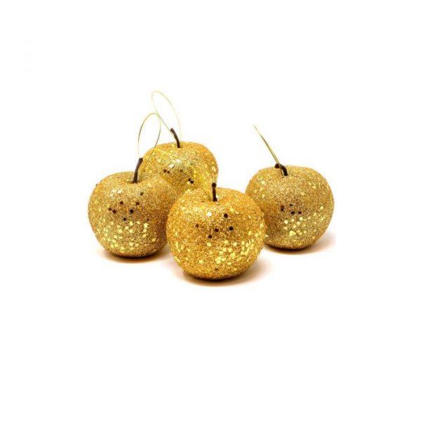 manzanas navidad oro