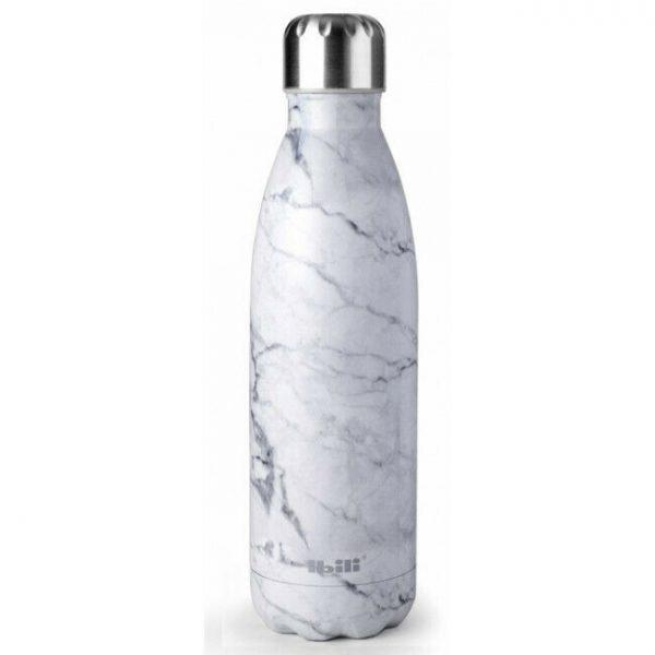 botella termo mármol
