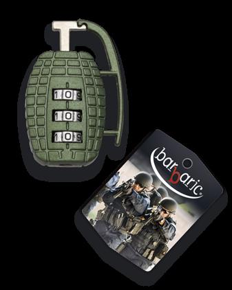candado granada combinación